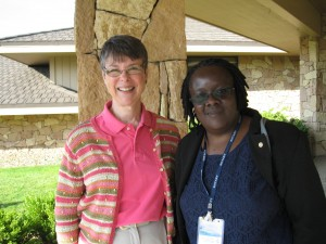 Kate Campbell and Caroline Abeja Apunyo