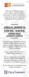 Lawrence 1863 Event Flier