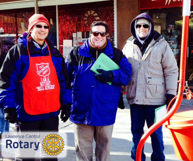 Lawrence Central Rotary Members Volunteering on Mass Street