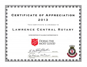Salvation Army AAF 2013