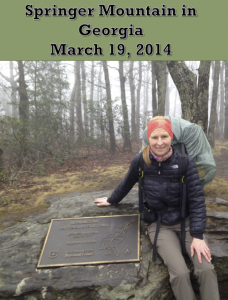 Joanne Renfro Starting the Appalachian Trail