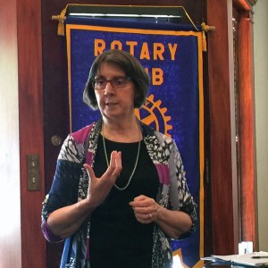 Theatre Lawrence ED Mary Doveton Speaks to Lawrence Central Rotary